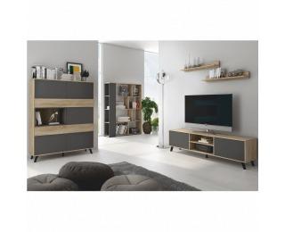 Obývacia izba Huron - dub sonoma / sivá
