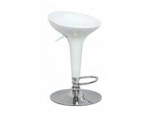 Barová stolička Inge 2 New - biela / chróm