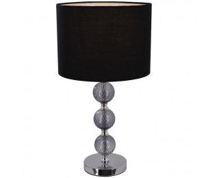 Stolná lampa Jade Typ 7 - čierna / chrómová / sivá