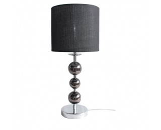 Stolná lampa Jade Typ 8 - čierna / chrómová / sivá