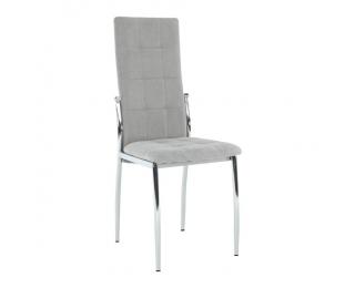Jedálenská stolička Adora New - sivá / chróm