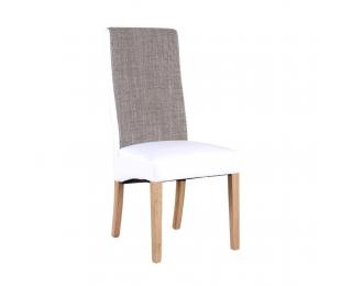 Jedálenská stolička Ardon - biela / hnedá melírovaná / prírodná
