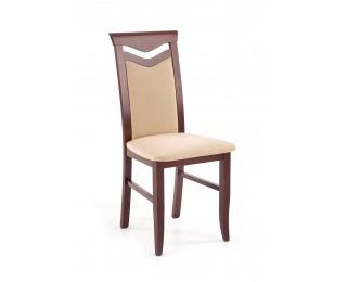 Jedálenská stolička Citrone BIS - orech tmavý / béžová