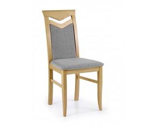 Jedálenská stolička Citrone - dub medový / sivá