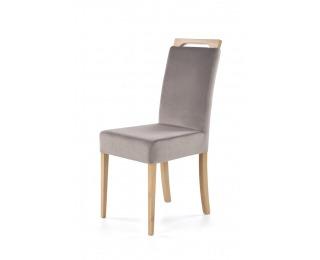 Jedálenská stolička Clarion - dub medový / sivá