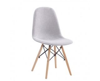 Jedálenská stolička Darela New - svetlosivá / buk / čierna