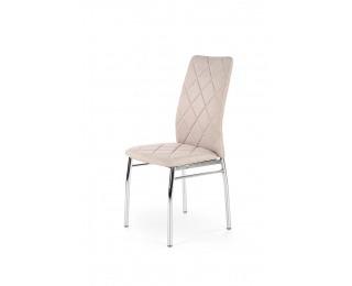 Jedálenská stolička K309 - svetlobéžová / chróm