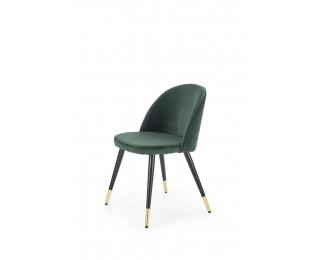 Jedálenská stolička K315 - tmavozelená / čierna / zlatá