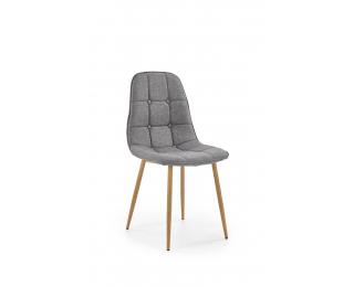 Jedálenská stolička K316 - sivá / dub medový