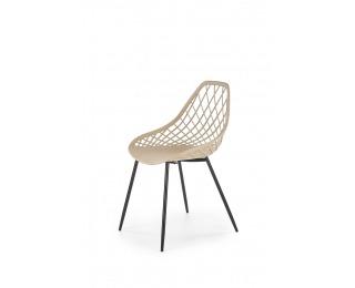 Jedálenská stolička K330 - béžová / čierna