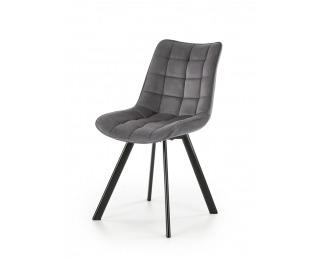Jedálenská stolička K332 - tmavosivá / čierna