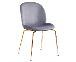 Jedálenská stolička Portia - sivohnedá (taupe) / zlatá