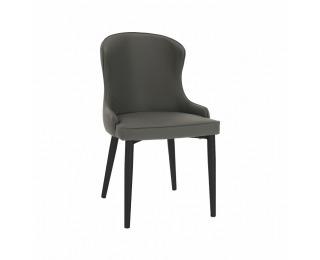 Jedálenská stolička Sirena - sivá / čierna
