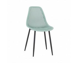 Jedálenská stolička Tegra - zelená / čierna