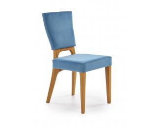 Jedálenská stolička Wenanty - dub medový / modrá