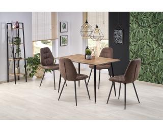 Jedálenský stôl Artti - orech medový / čierna