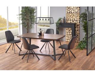 Jedálenský stôl Caruzzo - dub orechový / grafit