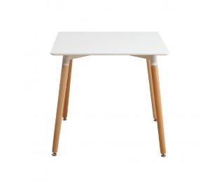 Jedálenský stôl Didier 3 New 70x70 cm - biela / buk