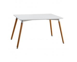 Jedálenský stôl Didier 4 New - biela / buk