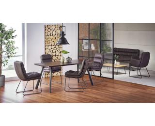 Jedálenský stôl Firmino - tmavý orech / grafit