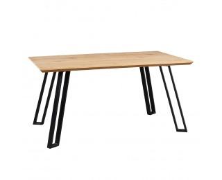 Jedálenský stôl Pedal 140 cm - dub / čierna