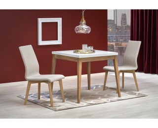 Jedálenský stôl Trump - biela / dub craft