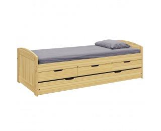 Jednolôžková posteľ s prístelkou Marinella New 90x200 cm - prírodná