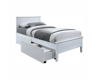 Jednolôžková posteľ s roštom Midea 90x200 cm - biela