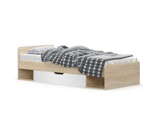 Jednolôžková posteľ s úložným priestorom Teyo 1S/90 - dub sonoma / biela