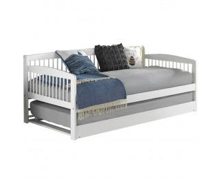 Jednolôžková posteľ (váľanda) s prístelkou Pedreza 90x200 cm - biela
