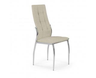 Jedálenská stolička K353 - béžová / chróm