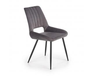 Jedálenská stolička K404 - tmavosivá / čierna