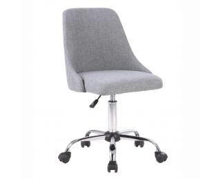 Kancelárska stolička Ediz - sivá / chróm