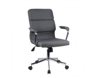 Kancelárska stolička s podrúčkami Darlos - sivá / chróm