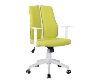 Kancelárska stolička s podrúčkami Delano - zelená / biela
