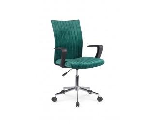 Kancelárska stolička s podrúčkami Doral - tmavozelená