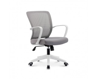 Kancelárska stolička s podrúčkami Glam - sivá / biela