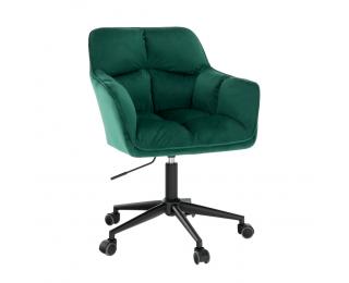 Kancelárske kreslo Hagrid - smaragdová / kov
