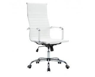 Kancelárske kreslo s podrúčkami Azure 2 New - biela / chróm