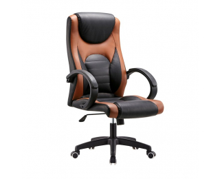 Kancelárske kreslo s podrúčkami Bady - hnedá / čierna