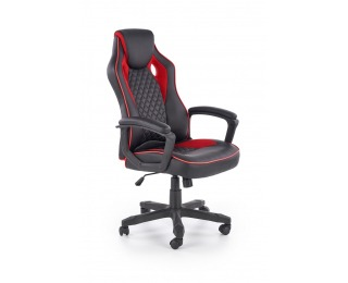 Kancelárske kreslo s podrúčkami Baffin - čierna / červená