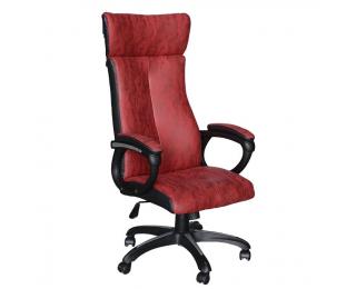 Kancelárske kreslo s podrúčkami Mersin - červená / čierna