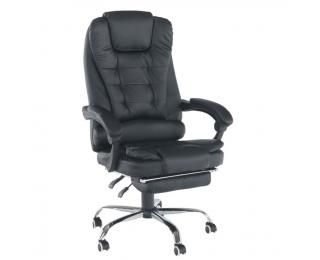 Kancelárske kreslo s podrúčkami Tichon New - čierna / chróm