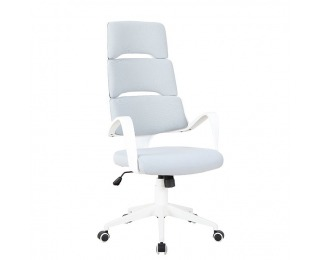Kancelárske kreslo s podrúčkami Visar - svetlosivá / biela