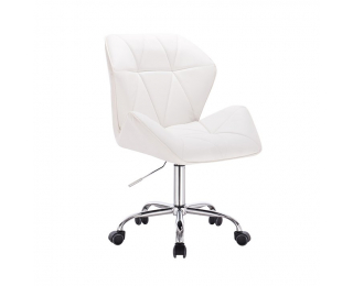 Kancelárske kreslo Twist - biela / chróm