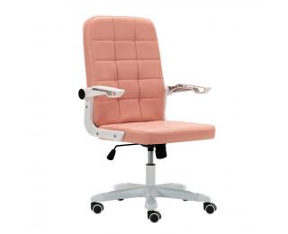 Kancelárske kreslo Zargo - ružová / biela