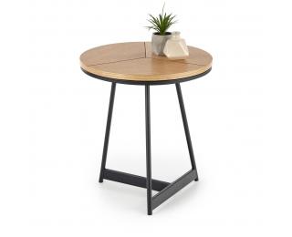 Okrúhly konferenčný stolík Karida S - prírodná / čierna