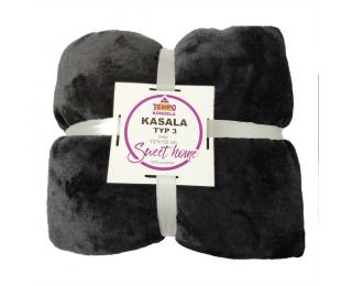 Obojstranná deka Kasala Typ 3 127x152 cm - čierna