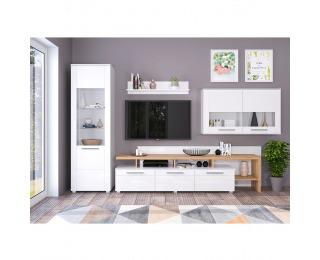 Obývacia izba Kelen - biely vysoký lesk