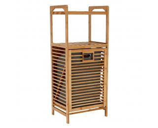 Kôš na prádlo Keri New - bambus / sivá
